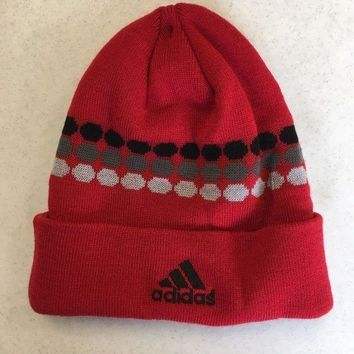 ESBONC. BRAND NEW ADIDAS RED DOT MATRIX WINTER KNIT HAT SHIPPING