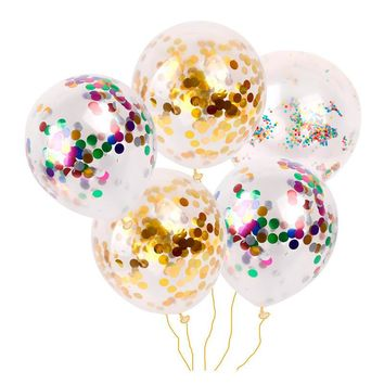10pcs/Lot 12inch Inflatable Latex Balloon Confetti Balloons Giant Clear Birthday Balloons Birthday Party Decoration