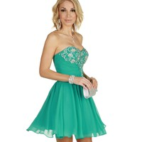 Tricia-teal Prom Dress