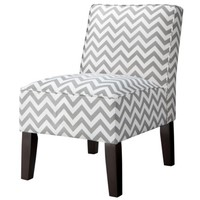 Burke Slipper Chair-Chevron