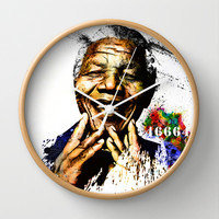 Nelson Mandela Wall Clock by D77 The DigArtisT