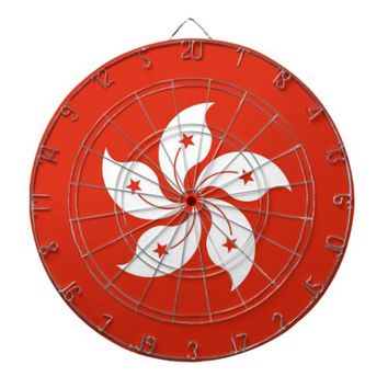 Dartboard with Flag of Hong Kong, China