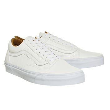 Vans Old Skool Off White Premium Leather - Unisex Sports