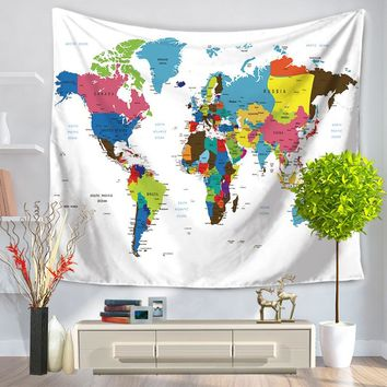 World Map Tapestry Wall Hanging shop world map tapestry on wanelo