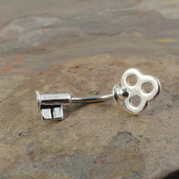 Skeleton Key Belly Button Jewelry Ring In-N-Out