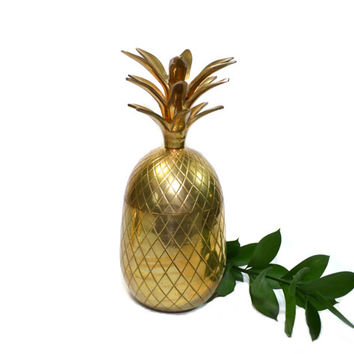 Pineapple Bar Brass Pineapple LARGE Brass Pineapple Boho Chic Pineapple Boho Home Decor