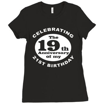 Funny 40th Birthday Ladies Fitted T-Shirt