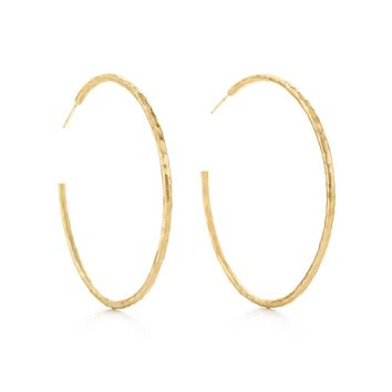 Tiffany & Co.   Paloma Picasso? Hammered Hoop Earrings In 18k Gold Large.