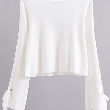 White Round Neck Knitwear