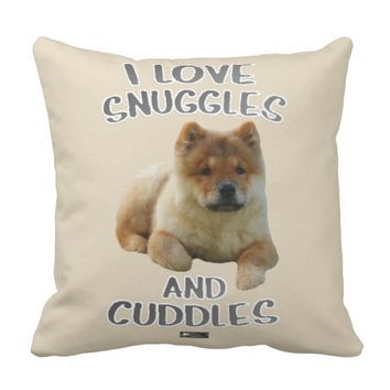 Snuggles Design by Kat Worth Throw Pillow