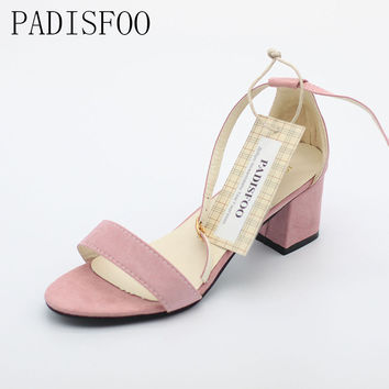 Ltarta Summer Women Sandals Open Toe Flip Flops Women's Sandles Thick Heel Women Shoes Korean Style Gladiator Shoes .HS-977
