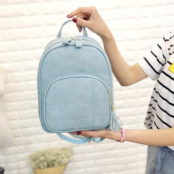2016 New Korean Backpacks Fashion PU Leather Shoulder Bag Crocodile Pattern Small Backpack Embossed Leisure Bags 1560