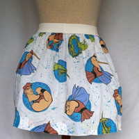 """Disney's Hercules Ladies Skirt from upcycled vintage fabric -  32"""" - 35"""" waist"""