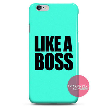 Like a Boss Tiffany Blue iPhone Case 3, 4, 5, 6 Cover