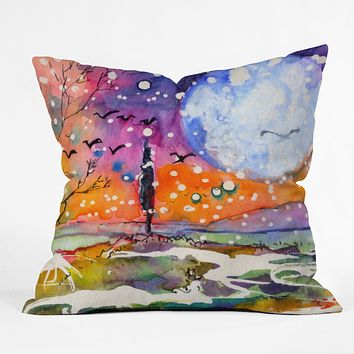 Ginette Fine Art Big Moon Throw Pillow