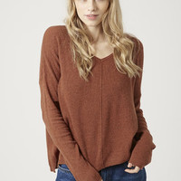 Fine Gauge Knit V-Neck Sweater - Knitwear - Clothing