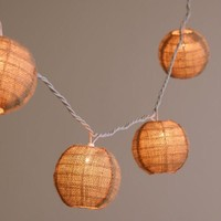 Burlap Ball 10-Bulb String Lights