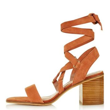 NARDA Ankle-Tie Mid Sandals - Shoes
