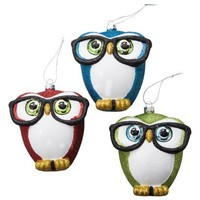 Owl w/ Glasses Ornament