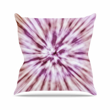 "Nika Martinez ""Spring Tie Dye"" Pink Urban Throw Pillow"