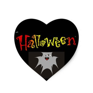 Halloween Heart Sticker