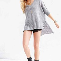 Mouchette V-Neck High/Low Sweater-