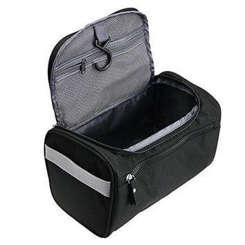 TravelMore Hanging Travel Toiletry Bag Organizer & Bathroom Hygiene Dopp Kit with Hook for Traveling Accessories Toiletries Bathroom Shaving & Makeup for Men and Woman - Black