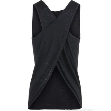 PEAP2Q sexy women tank top quick dry loose fitness vest women s workout yoga t shirts exercise sports vest g 399