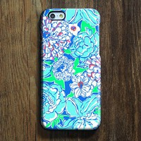 Blue White Floral  iPhone 6s Case iPhone 6s Plus Case iPhone 6 Cover iPhone 5S 5 iPhone 5C Samsung Galaxy S6 Edge Galaxy s6 s5 s4 Galaxy Note 5ÌâåÊNote 4 Case 138