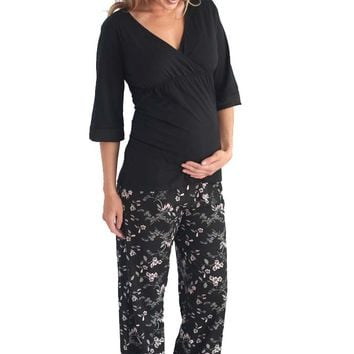 Belabumbum Reika Maternity Nursing Tunic And Pant Lounge Pajama Set