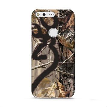 Love Browning Deer Camo Real Tree Couple Google Pixel XL 2 case