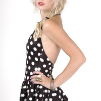 Vintage Pin Up Polka Dots One Piece Suit