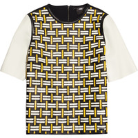 Fendi - Woven leather top