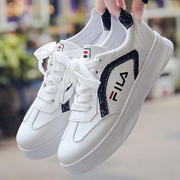 FILA Old Skool Newest Popular Women Casual Sneakers Sport Shoes White/Black