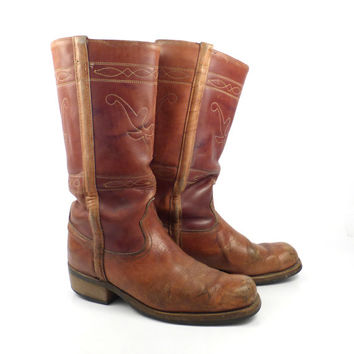 Steer Campus Boots Vintage 1970s Acme Women's size 9