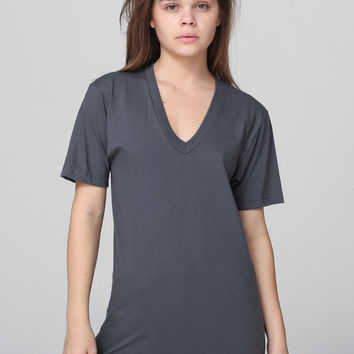 Gina Build Your Own V-Neck Short Sleeve Tee ASPHALT