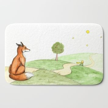 The little Prince and the Fox Bath Mat by Savousepate