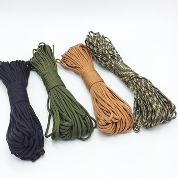Paracord 550 7 Core 31m Strand 100FT Parachute Cord Lanyard Mil 4mm Outdoor Climbing Camping Survival Paracord
