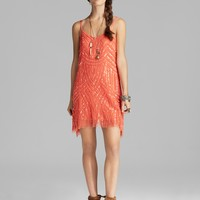 Free People Dress - Beaded Mesh Cocktail | Bloomingdale's