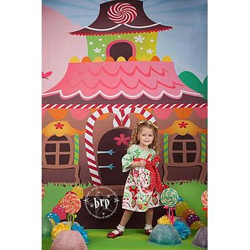 Christmas Gingerbread House Backdrop - 7718