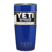 YETI Royal Blue 20 oz Rambler Tumbler