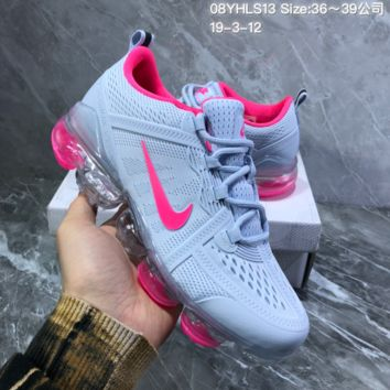 DCCK2 N889 Nike Air Vapormax 2019 mesh breathable Drop molding Running Shoes Gray Rose Red