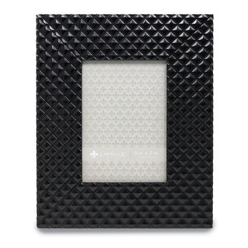 5x7 Provincial Diamond Pattern Black Picture Frame