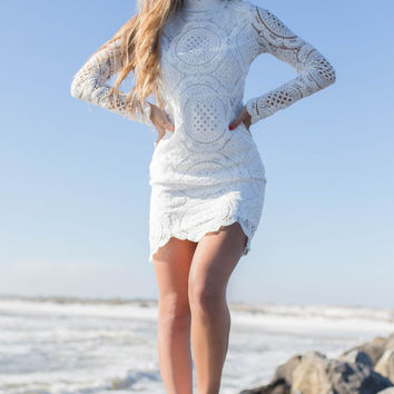 London Bridge Off White Lace Dress