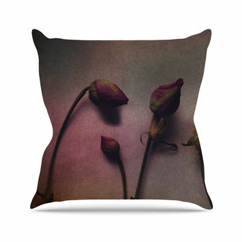 "Robin Dickinson ""Better Together"" Multicolor Maroon Outdoor Throw Pillow"