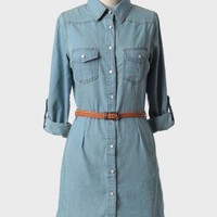 weekend picnic belted shirt dress at ShopRuche.com