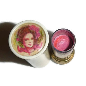 Vintage Avon Cameo Lipstick Case 1960's Lipstick Tube Boho Shabby Chic Vanity Display Vintage 60's 70's Makeup Cosmetics Collectibles