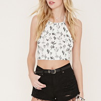 Cactus Print Crop Top | Forever 21 - 2000169792