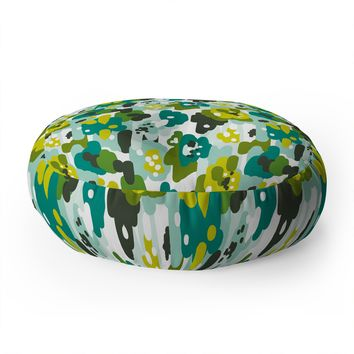 Heather Dutton Painted Camo Floor Pillow Round