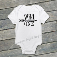 First Birthday Shirt Wild One Shirt Birthday Shirt Baby Boy Birthday Arrow One Year Old Shirt Hipster Arrow Bodysuit READY TO SHIP 024